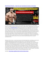 Max Robust Xtreme - Improve your natural muscle growth