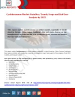 Cyclohexanone Market Variables, Trends, Scope and End User Analysis by 2022