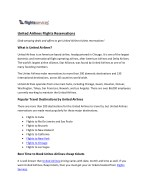United Airline Flights Reservations