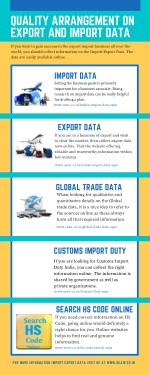 Quality Arrangement On Export and Import Data