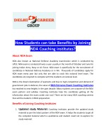 How Students can take Benefits by Joining NDA Coaching institutes?