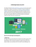 10 Web Design Trends to Try in 2017