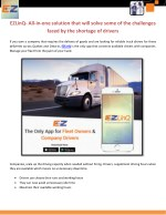 EZLinQ- All-in-one solution that will solve some of the challenges faced by the shortage of drivers