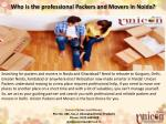 Who is the professional packers and movers in Noida?