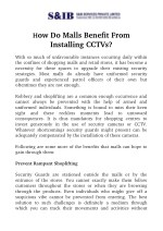 How Do Malls Benefit From Installing CCTVs?