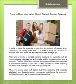 Receive More Information About Student Storage Services