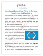 Silver Coated Copper Wires – A Must For The Better Protection And Good Conductivity