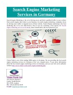 Search Engine Marketing Services in Germany