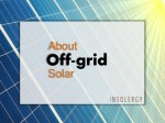 What is meant by off grid solar systems