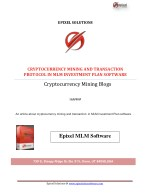 Cryptocurrency Mining And Transaction Protocol in MLM Investment Plan Software