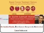 Best Cancer Doctor in Hyderabad Dr.Sachin Marda a senior Oncologist Surgeon