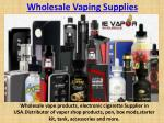 Wholesale Vaping Supplies | USA Wholesale Vapor / Vape Products