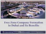 Free Zone Company Formation in Dubai and Its Benefits