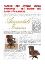 Classic And Modern Office Furniture - Key Behind The Effective Business
