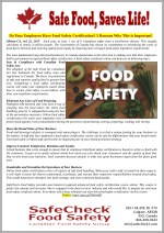 Do Your Employees Have Food Safety Certification? 5 Reasons Why This is Important!