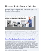 Electrolux Service Centre in Hyderabad