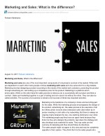 Marketing and Sales: What is the difference?