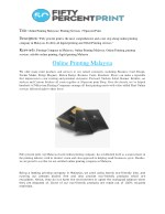 Online Printing Malaysia | Printing Services | 50percent Print.