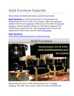 Gold Furniture Exporter