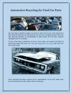 Automotive Recycling for Used Car Parts