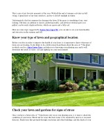 TIPS FOR LATE SUMMER LAWN CARE