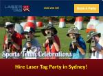 Hire Laser Tag Party in Sydney!