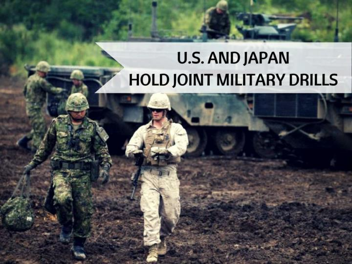 u s and japan hold joint military drills n.