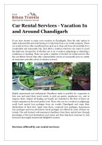 Car Rental Services - Vacation In and Around Chandigarh