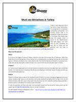 Must see Attractions in Turkey