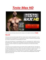 Testo Max HD - Improves immunity power, nervous and digestive system