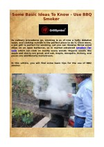 Some Basic Tips To Know - Use BBQ Smoker