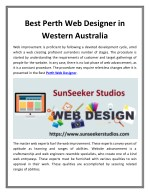Best Perth Web Designer in Western Australia