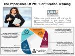 The Importance Of PMP Certification Training