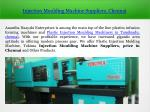 Injection Moulding Machine Suppliers in Chennai