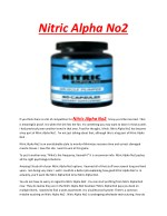 Nitric Alpha No2 - Heightens stamina and energy to do the extensive workout sessions for hours