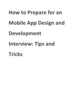 How to Prepare for an Mobile App Design and Development Interview: Tips andTricks