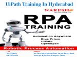 UiPath Training In Hyderabad-Best RPA Training Institute In Hyderabad