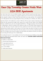Gaur City Township Greater Noida West- 2-3-4 BHK Apartments