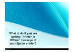 "What to do if you are getting ""Printer is Offline"" message of your Epson printer?"