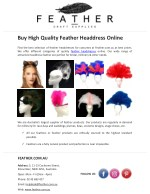 Buy High Quality Feather Headdress Online