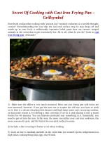 Secret Of Cooking with Cast Iron Frying Pan – Grillsymbol