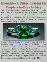 Emerald — A Perfect Present For People who Born in May