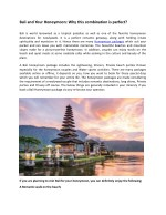 Bali and Your Honeymoon Why this  is a perfect combination