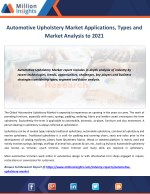 Automotive Upholstery Market Share, Market Size, Market Trends and Analysis 2021