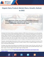 Organic Dairy Products Market to 2022 Industry Size, Share, Revenue Analysis