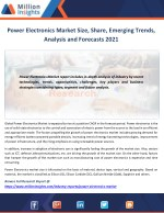 Power Electronics Market Applications, Types and Market Analysis to 2021