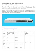 Cisco Catalyst 9300 Series Switches Overview