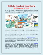 Skill India Consultants Work Hard in Development of India