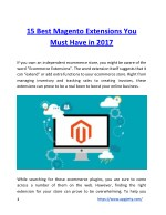 15 Best Magento Extensions You Must Have in 2017