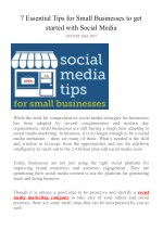 7 Essential Tips for Small Businesses to get started with Social Media